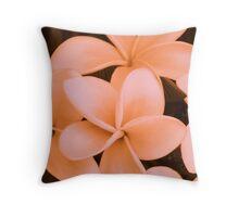 Strawberry Frangipani Bunch Throw Pillow