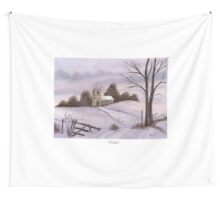 Winter Church Wall Tapestry
