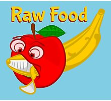 Raw Foods Food Fight Photographic Print