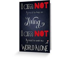 My Chemical Romance - Famous Last Words Greeting Card