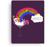 Forever Young Adult Official Tee Canvas Print