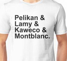 Fountain Pens - German Brands - Pelikan, Lamy, Kaweco, Montblanc Unisex T-Shirt
