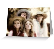 Mother & Daughters Greeting Card