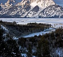Snake River Overlook, Jackson Hole, Wyoming by A.M. Ruttle