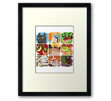 .::Noteable Dragons::. Framed Print