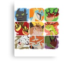.::Noteable Dragons::. Canvas Print