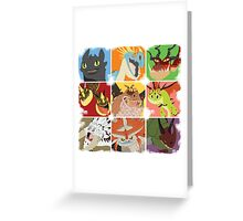 .::Noteable Dragons::. Greeting Card