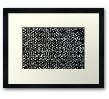 Bubble Wrap Packing Material Texture Framed Print