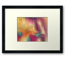 Colored Tetris Framed Print