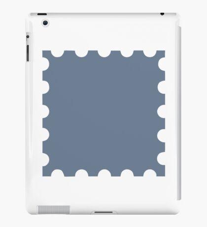 Grey stamp iPad Case/Skin