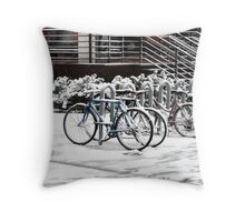 A COLD RIDE Throw Pillow