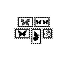 Butterfly stamps Photographic Print