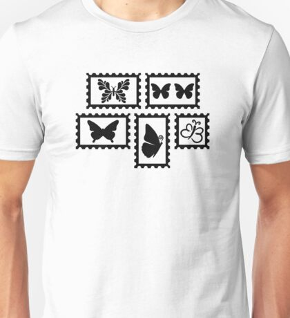 Butterfly stamps Unisex T-Shirt