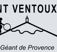 Mont Ventoux Mountain Road Sign Tour de France Sticker