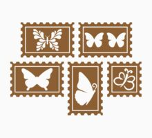 Butterfly stamp collection by Designzz
