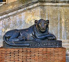 Egyptian Lion with a Haunted Face by BRENDA KEAN