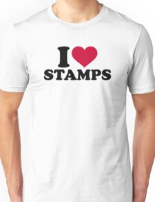 I love stamps Unisex T-Shirt