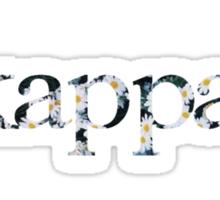 kappa floral Sticker