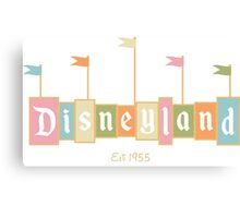 Disneyland California Logo  Canvas Print