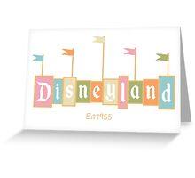 Disneyland California Logo  Greeting Card