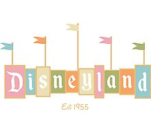 Disneyland California Logo  Photographic Print