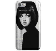 girl in black iPhone Case/Skin