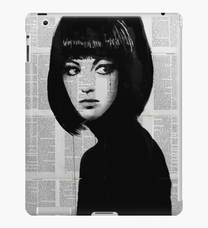 girl in black iPad Case/Skin