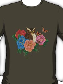 Owl and Roses T-Shirt
