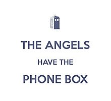 The Angels have the Phone Box - Weeping Angels - Doctor Who Photographic Print