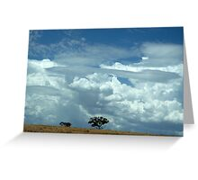 australian landscape Greeting Card