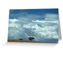 australian landscape Greeting Card