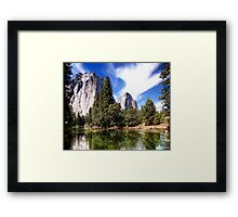 Merced River And Cathedral Rocks Framed Print