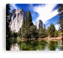 Merced River And Cathedral Rocks Canvas Print