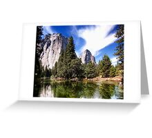 Merced River And Cathedral Rocks Greeting Card