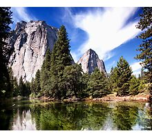 Merced River And Cathedral Rocks Photographic Print