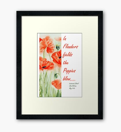 In Flanders Fields...... Framed Print