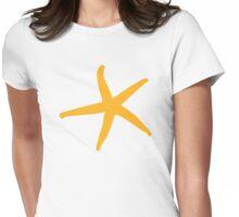 Yellow starfish Womens Fitted T-Shirt
