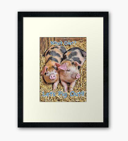 Let's Pig Out!! Framed Print