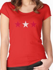 Austria flag stars Women's Fitted Scoop T-Shirt