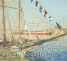 Tall Ships - Victoria Harbour by michaelhepburn