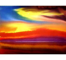 Heaven on Earth Original Watercolour Acrylic Painting Photographic Print