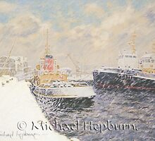 Tugs and Snow Clouds by michaelhepburn