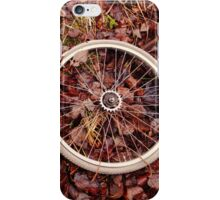 Decomposed bicycle parts iPhone Case/Skin
