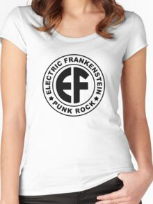 Classic EF Logo BLACK Women's Fitted Scoop T-Shirt