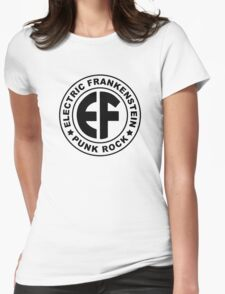 Classic EF Logo BLACK Womens Fitted T-Shirt