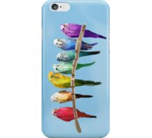 Messy Parakeets iPhone Case/Skin