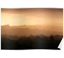 Evening Light in the Hills Poster