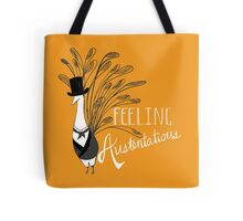 Peacock & Prejudice Tote Bag