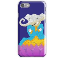 Ganesh on Lotus with Mouse iPhone Case/Skin