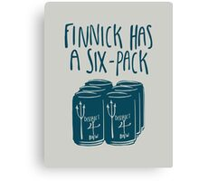 Finnick Has a Six-Pack - Light Shirts Canvas Print